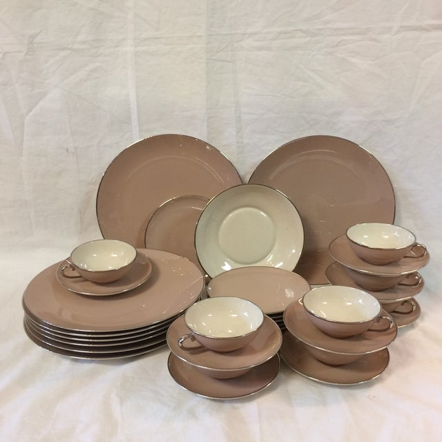 Franciscan China Sandal Wood Pattern by Gladding McBean - 32 Piece For Sale - Image 9 of 9