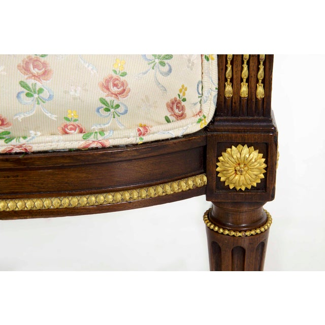 French Louis XVI Style Antique Canapé Sofa Settee Circa Late 19th Century For Sale - Image 11 of 13