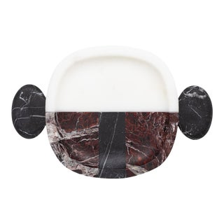 Contemporary Handcrafted Plate in Italian Marble by Matteo Cibic For Sale