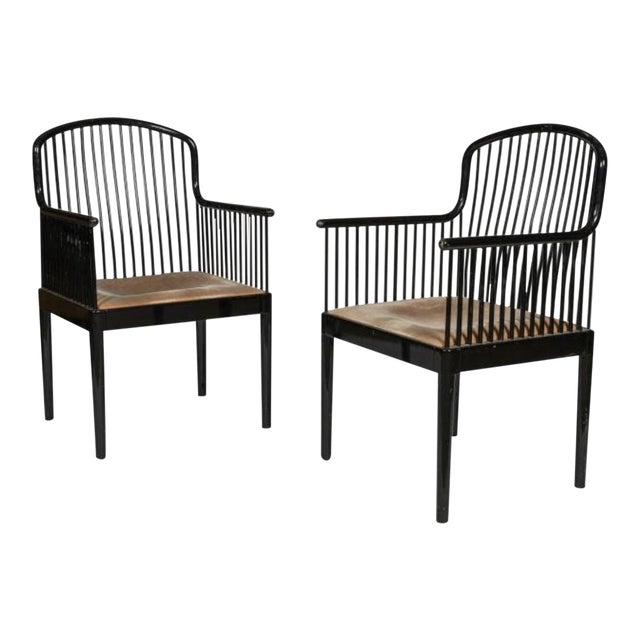 Final Markdown Davis Allen for Stendig Italy/Knoll International Ebonized Armchair - Image 1 of 3