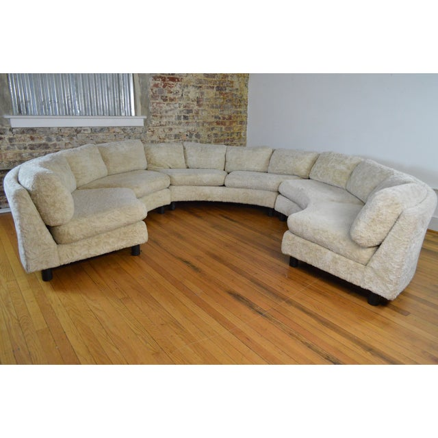 """Amazing, all original sectional or """"pit"""" sofa dating back to the mid 1960s. According to the original owners, this piece..."""