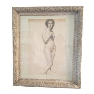 Original Framed Victorian Nude Portrait