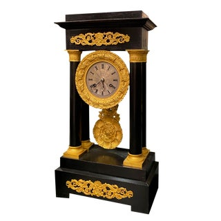 19th Century French Portico Mantel Clock For Sale