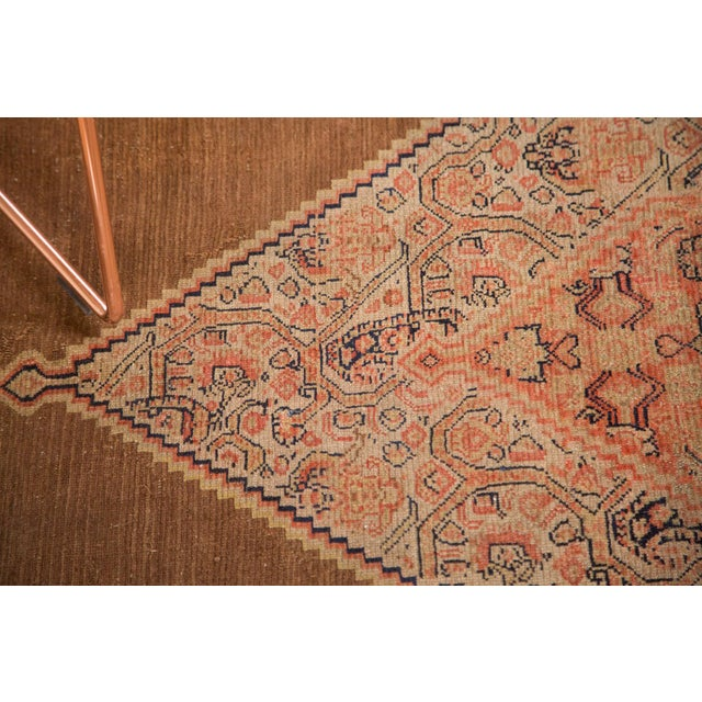 "Textile Antique Fine Senneh Square Rug - 4'1"" X 5' For Sale - Image 7 of 9"