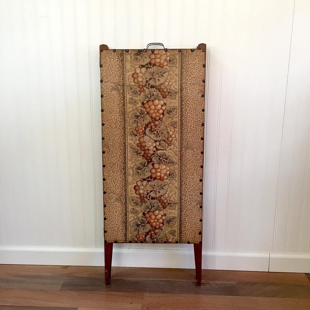 Antique Folding Sewing Cabinet For Sale - Image 4 of 7