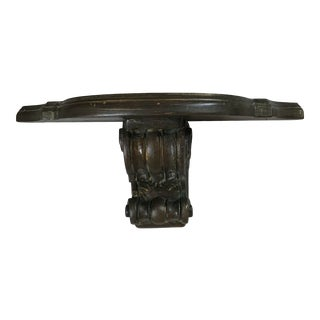 Mid 20th Century French Wood Wall Mounted Floating Console For Sale