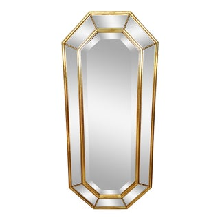 Vintage La Barge Italian Gilt Wood Octagonal Gold Beveled Mirror