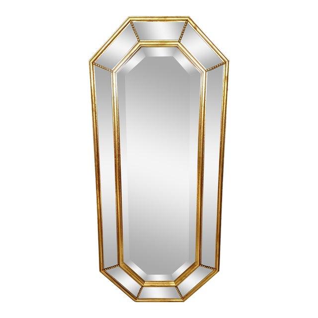 Vintage La Barge Italian Gilt Wood Octagonal Gold Beveled Mirror - Image 1 of 8