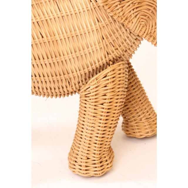 Vintage Wicker Figural Elephant Purse - Image 8 of 11