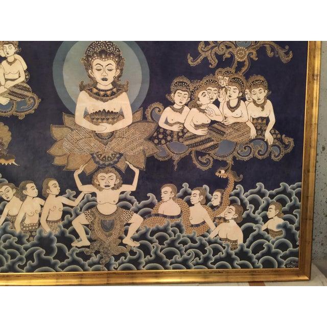Framed Cultural Theme Indonesian Batik Artwork - Image 11 of 11