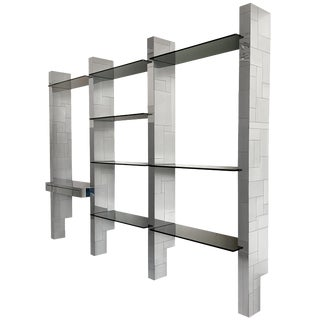 Paul Evans Chrome Cityscape Wall Shelving System For Sale