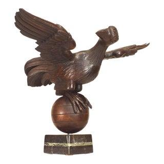 19th Century French Folk Oak Eagle Figure For Sale