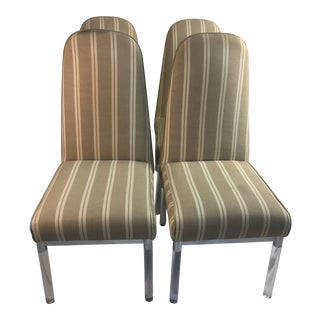 1970s Mid-Century Modern Charles Hollis Jones Lucite Chairs - Set of 4 For Sale