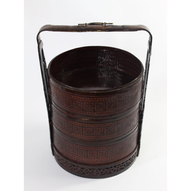 Mid 19th Century Giant Antique Chinese Wedding Basket For Sale - Image 5 of 11