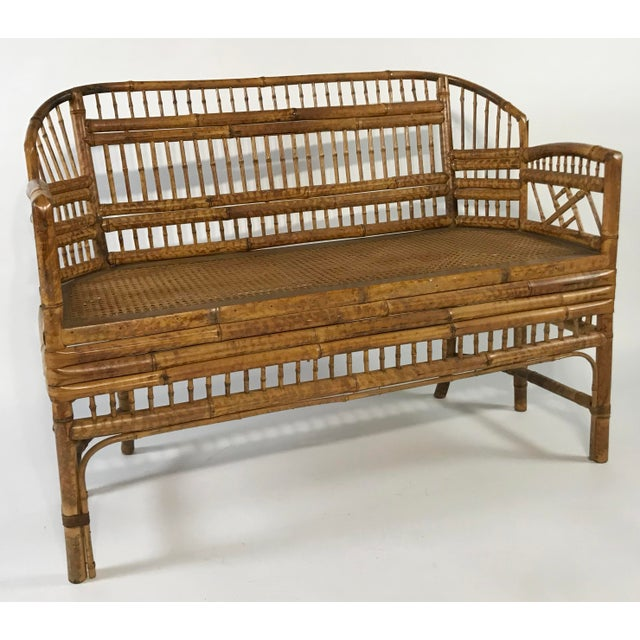 Brighton Pavilion Brighton Pavillion Caned Settee For Sale - Image 4 of 11