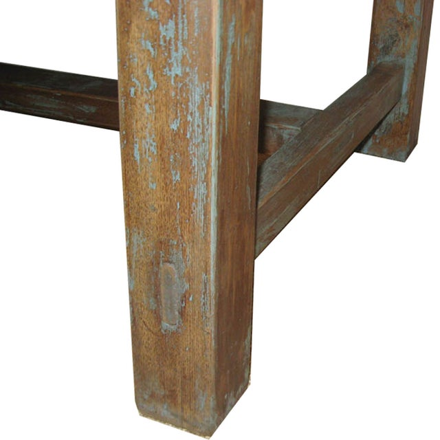 Distressed Blue Table - Image 7 of 7