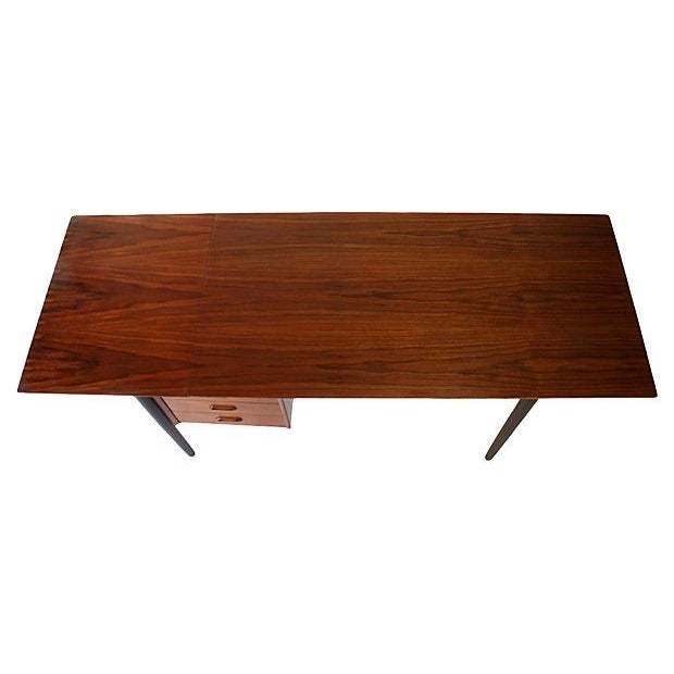 Danish Modern Drop-Leaf Desk by Arne Vodder for H Sigh - Image 4 of 7