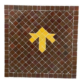 Moroccan Ceramic Tile Square Table Top For Sale