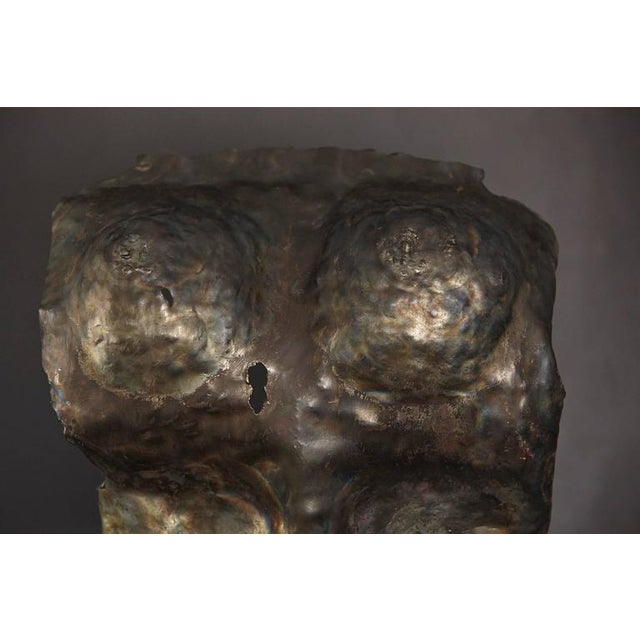 Brutalist Bronze Sculpture of a Female Torso For Sale - Image 9 of 9