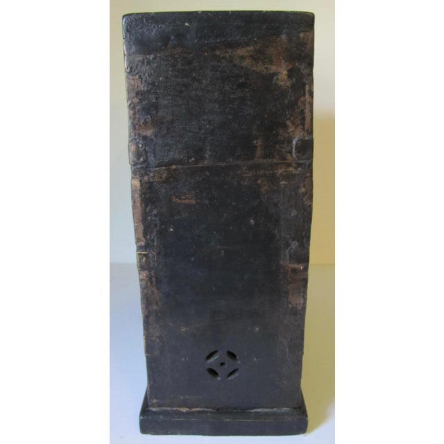 Black 1910s Black Wooden Chinese Bellows Box For Sale - Image 8 of 9