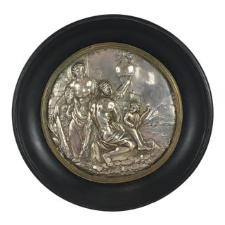 17th Century Silver Allegorical Plaque