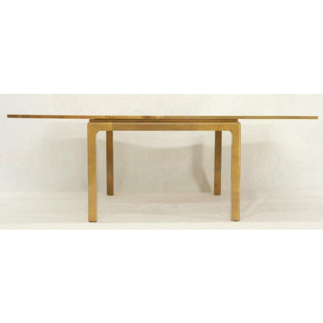 Animal Skin Lacqured Goat Skin Parchment Square Flip Top Dining Table For Sale - Image 7 of 13