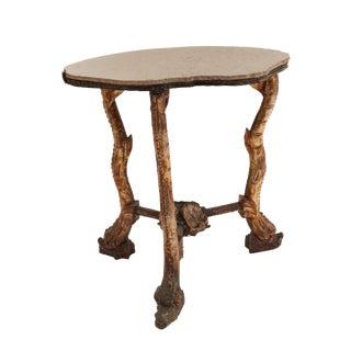 19th Century Italian Venetian Grotto Gilt End Table For Sale
