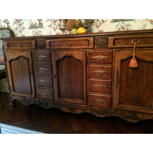 Mount Airy Furniture Company Mount Airy Furniture Co. French Provincial Sideboard Buffet For Sale - Image 4 of 11