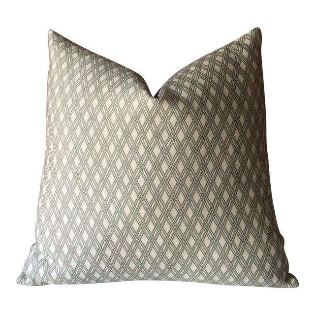 Robert Allen Sage Basket Weave Pillow Cover - Image 1 of 4