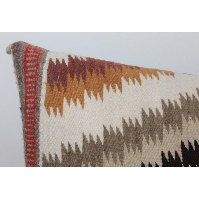 Navajo Indian Weaving Saddle Blanket Pillows - Set of 2 For Sale - Image 4 of 9