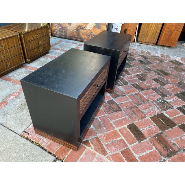 Mid-Century Modern 1990s Ldc Design Studio Side Tables-Zebra Wood For Sale - Image 3 of 8