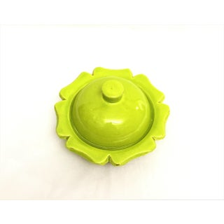 Hand Painted Green Small Moroccan Ceramic Serving Dish & Lid Preview