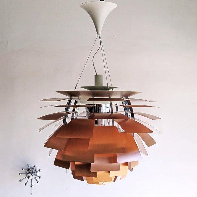 Louis Poulsen 1950s Large Ph Artichoke Copper Lamp by Poul Henningsen For Sale - Image 4 of 11