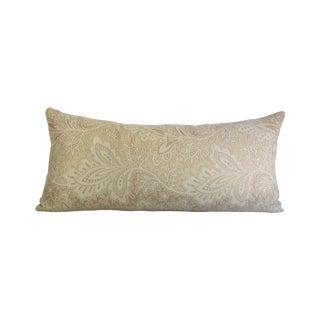 Cream Paisley Bolster Pillow