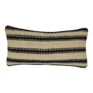 Vintage Throw Kilim Pillow Cover 10 X 20 Inch (25x50 Cm) Handmade Lumbar Pillow Chair Small Cushion Cover For Sale