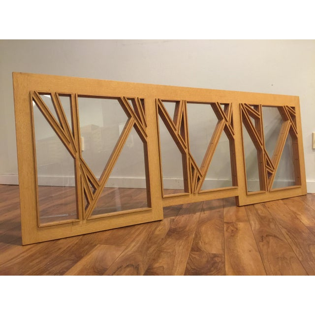 """White Oak and Glass Abstract Architectural Wall Sculpture Titled """"Third Window"""" For Sale - Image 4 of 8"""