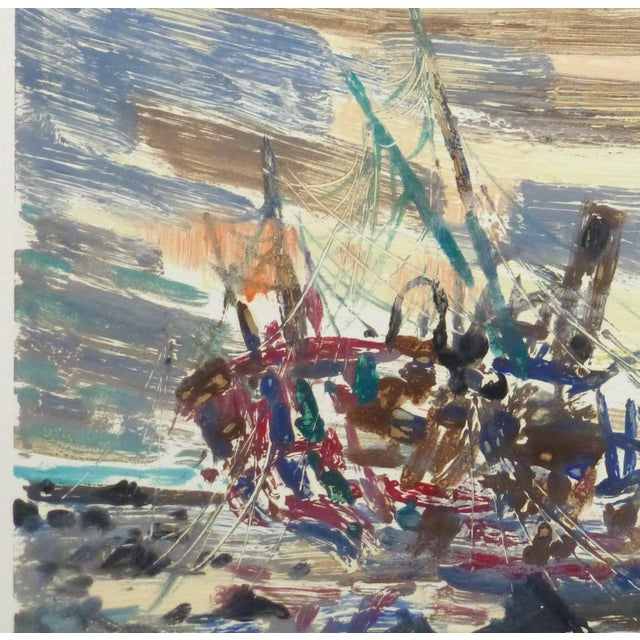 Abstract Chauvin, Vintage French Monotype - Bateau Transparent For Sale - Image 3 of 5