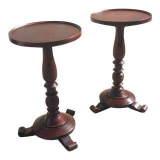 Pair of Early 19th Century Jamaican Regency Mahogany Occasional Tables For Sale