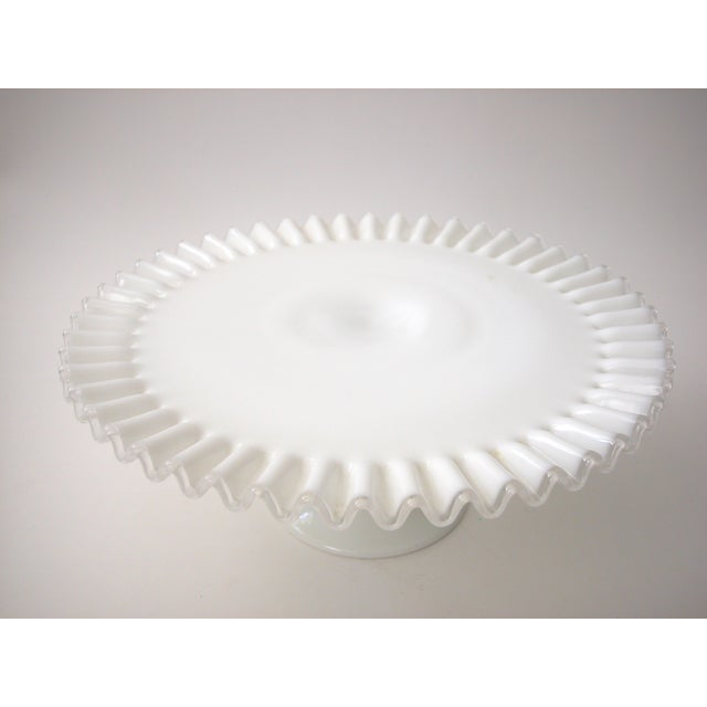 Fenton Silver Crest Cake Stand For Sale - Image 5 of 7