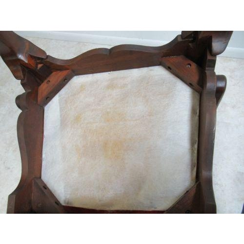Vintage Thomasville Solid Cherry Queen Anne Caned Chair For Sale - Image 10 of 11