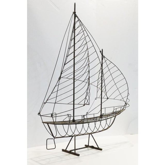 Vintage Wire Ship For Sale - Image 4 of 6