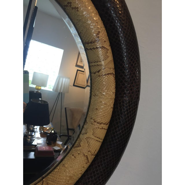 Python Mirror Double Bumper by Gene Jonson and Robert Marcius for Gun Agell from a Palm Beach estate. NOTE: the last...