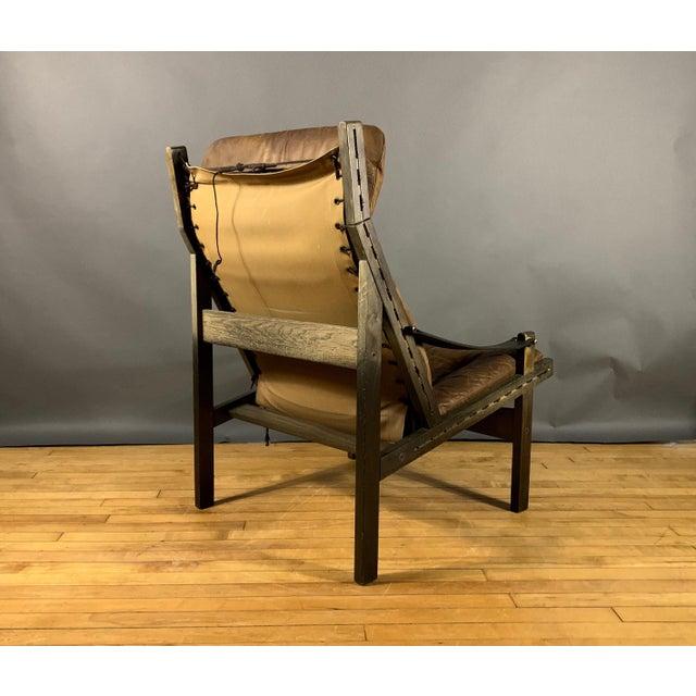 """Animal Skin Torbjørn Afdal """"Hunter"""" Chair & Ottoman, Bruskbo Norway 1960s For Sale - Image 7 of 10"""
