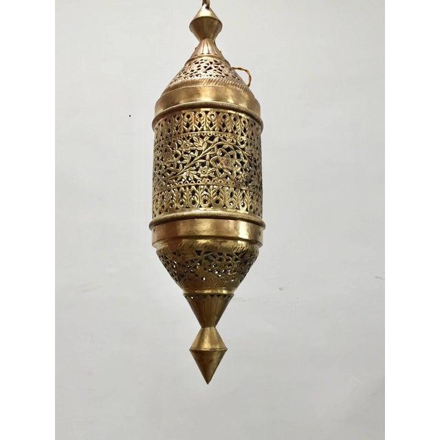 Brass Moroccan Moorish Style Brass Pendant Light Fixture For Sale - Image 7 of 7