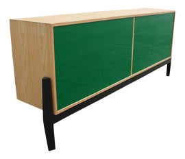 Image of Newly Made Green Credenzas and Sideboards