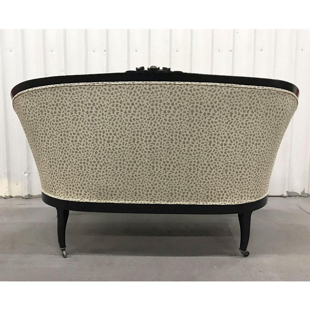 Early 20th Century Antique Settee With Contemporary Upholstery For Sale - Image 5 of 12