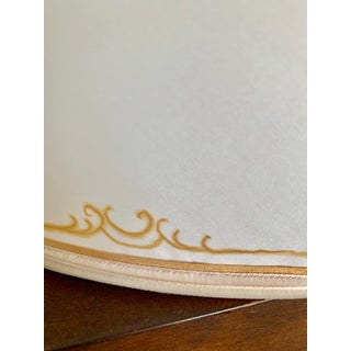 1950's Hand Made and Painted Signed Helen Woods Cream and Gilt Silk Designer Lampshade Preview