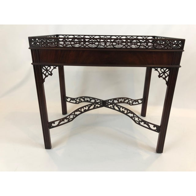 Chippendale Flame Mahogany Side Table For Sale - Image 10 of 13