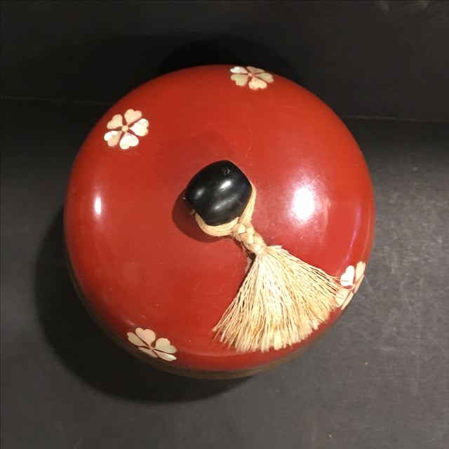 Japanese Mother of Pearl Lacquer Box - Image 4 of 6