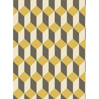 Cole & Son Delano Wallpaper Roll - Yellow And Black For Sale